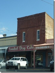 Towns on the way to Parkes - Loaded Dog Cafe makes for interesting venues