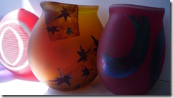 Robert Wynne's works - sand etched vases
