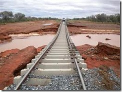 Alice Springs flash floods railroad line