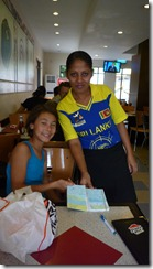 Even Pizza Hut staff root for their ICC Cricket teams - this girl sports Sri Lanka's team.  She also taught us several Singhalese words!