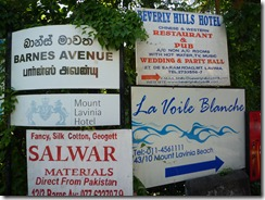 Colombo -Signs -  Beverly Hills and other hotels