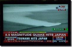 Japan - Earthquake and 10 meter tsunami wave toward Sendai