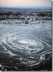 Japan tsunami whirlpool