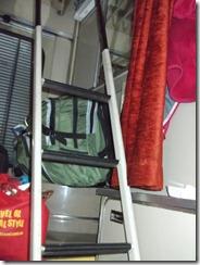 Train ladder to upper bunk
