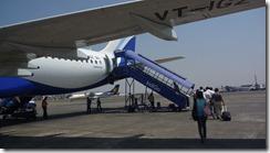 Mumbai airport - boarding Indigo plane (5)