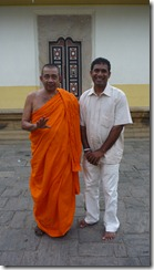 Buddhist monk and Mr. Tissa, Kandy