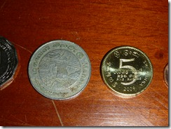 1 and 5 Rupee coins