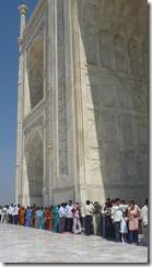 Taj Mahal Tour Colorful Line