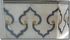 Taj Mahal Tour Detail of Onyx, Jasper, White Marble Inlaid Workmanship