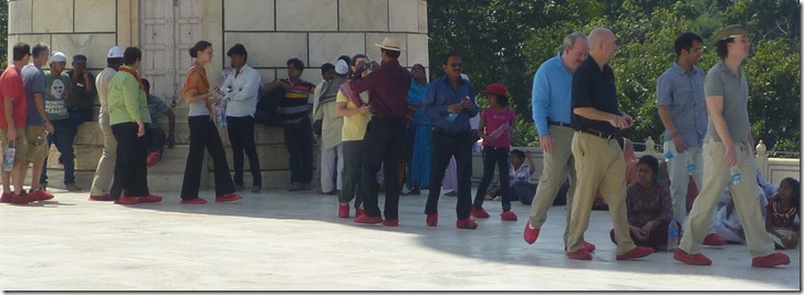 Taj Mahal Tour Red-footed Visitors
