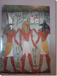 Valley of Kings Anubis and Osiris accompanying Ramses I