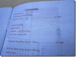 Caffe for EU8.40 ($13)