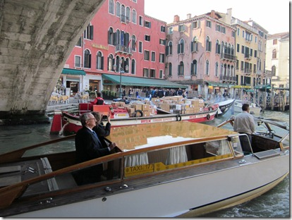 Venice - traffic jam on the Grand Canal