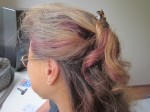 Amy even got purple into my hair too!
