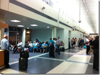 Gate F28 has very limited seating