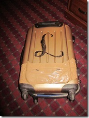 Jeannie's RTW roll-on luggage - AFTER