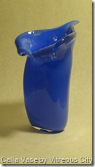 Glass - For Sale Blue Calla Vase V12 (17)