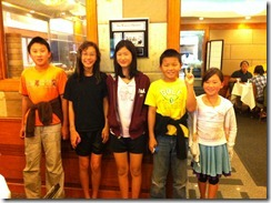 Reunion with Ying Chen & John - Amy and Angelina with Ying Chen's & John's grandkids