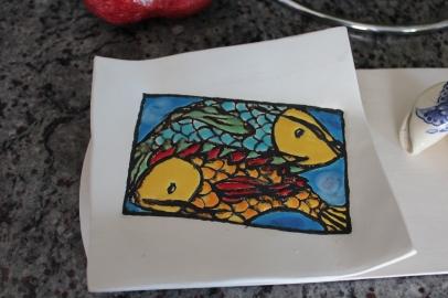 Cuerda Seca fish plate